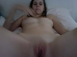 Slut fingering herself while looking at boyfriends cock on Iphone free