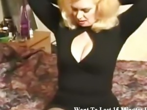 Mature blonde seduces him for a doggy style fuck