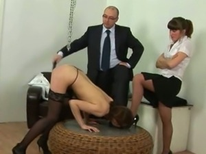 Secretary spanked by boss