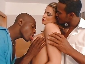 Sebrina Love fucked by two black guys