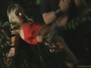 Tied up in the woods and fucked