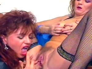 Hot lesbian play with two horny MILFs that just love licking pussy.