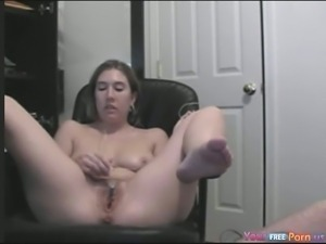 Emily watches porn and gets a creampie