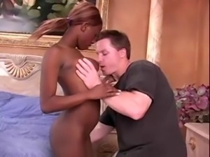 African Babe and American man in hot interracial sex