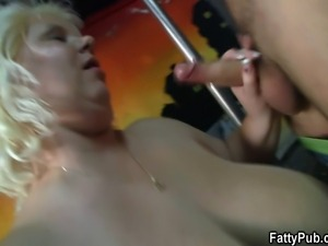 Huge fat bitch gets doggystyled