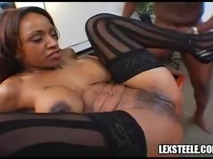 Ayana Angel vs Brian Pumper and Lex Steele