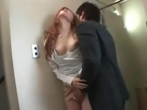 Office lady has sex in the washroom free