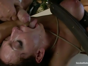 cum addicted brunette milf punished and fucked in the anus