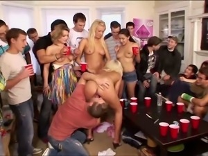 Oral exhibitions at college sex-party