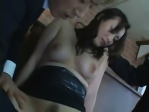Unique Japanese bitch masturbated
