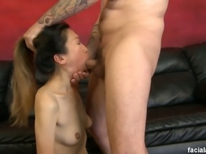 Mei lee and her deepthroat training