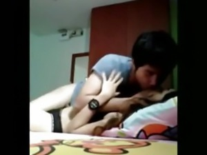 Asian Teen Rides Her BF Like Crazy