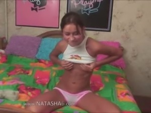 Hot live show of beautiful danish girl