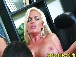 Hot MILF Diamond Foxx office pounding