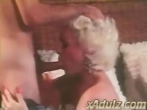 Retro Grey Haired Granny Gives Sensual Deepthroat and Tit Job free