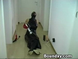PVC Fetish Slut Punished Furiously