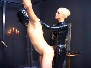 German Latex Lady and her Strapon
