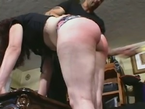 Hard spanking for a naughty schoolgirl
