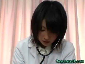 Japanese slut nurse pussy oral and cock sucking free