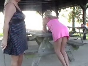 Sissy Husband whipped at Public Park