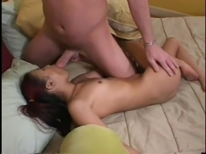 Tiny Asian Babysitter Kitty Wants Old Man Cock