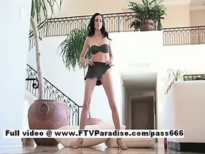 Sophie superb brunette babe at home dancing