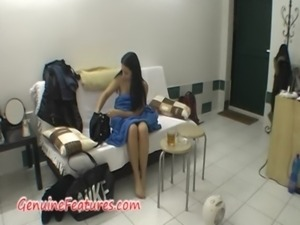 Real backstage with amazing czech brunette free