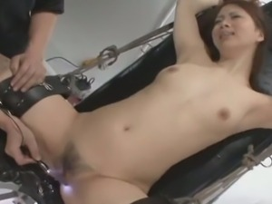 Asian bondage slut being tortured and humiliated