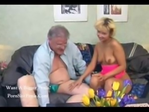 Lucky older guy fucks blonde slut fo free,,,..... free