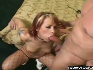 Naughty redhead gets viciously assfucked