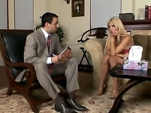 Fucking massive cock therapy from Voodoo for desperate blonde hottie Carmel...