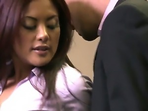 Sometimes naughty Kaylani Lei fucks during work hours with her handsome and...