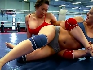 andy Smile and Tigerr Benson wrestling kissing and massaging each other in a...