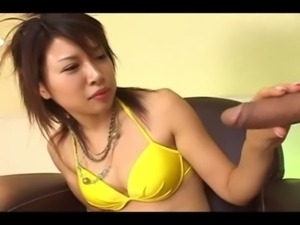 Great handjob of horny japanese princess free