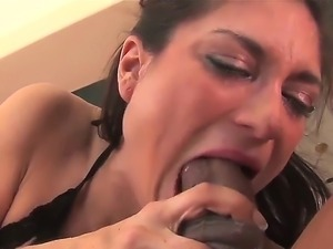 Lusty cock hungry brunette slut Tabatha Tucker in arousing lingerie does...