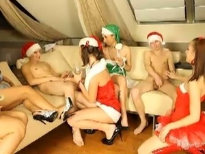 Crazy christmas party turns into drunk sex party