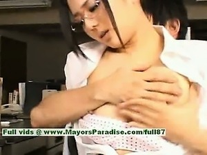 Sora Aoi innocent naughty chinese secretary enjoys getting fucked at break time