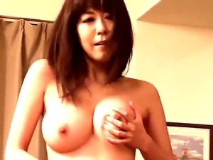Sweet asian Akari Minamino enjoys hardcore solo masturbation that makes her cum