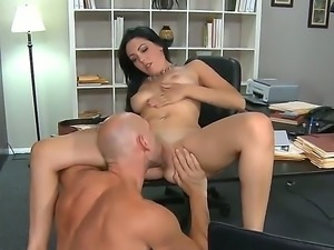 Johnny Sins fathers new girlfriend Megan Foxx sucked his dick like a crazy bitch