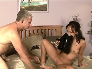 Enjoy amazing Asian brunette beauty Jandi Lin fucking with her neighbor Jay Crew