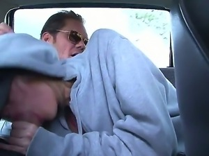 Elida was picked up in Nacho Vidals car to show her deepthroat skills and get...