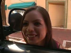 Lovely redhead Yurizan Beltran wants to fuck and she stops a bangbus, and the...