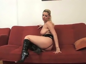 Arousing blonde hottie Alexa Bold loves masturbating before letting cock...