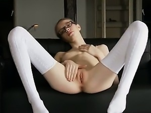 18yo bony teacher posing naked