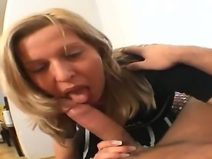 Exciting POV shoot starring young and hungry blonde Britney with a dick in...