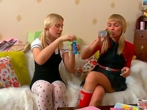 Blake and Marina are naughty and horny blonde lesbians and they love to play...