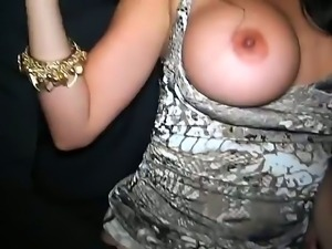 Young girls got drunk and crazy at a night club and started sucking cocks and...