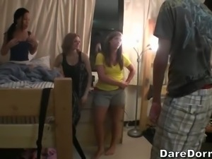 Check out video chronicles featuring another dorm party with sweet