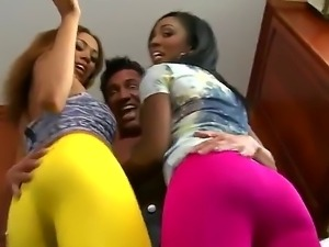 Layton Benton,Marco Banderas and Serena Ali are horny and eager for a hard...