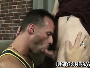 Luke Cross - Muscular Dad Fucking A Pierced Cock